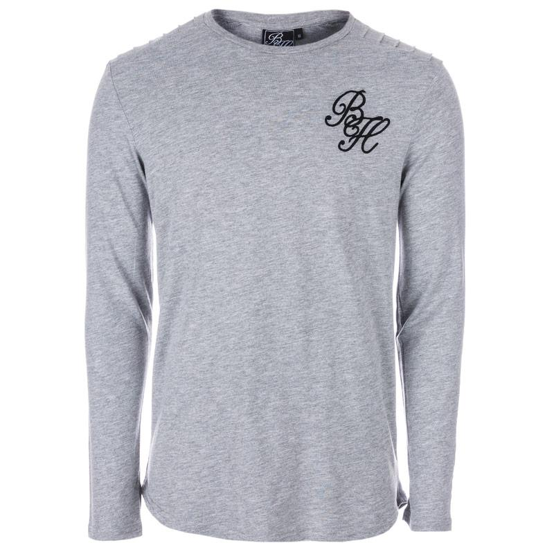 Tričko Beck And Hersey Mens Long Sleeve T-Shirt Camo