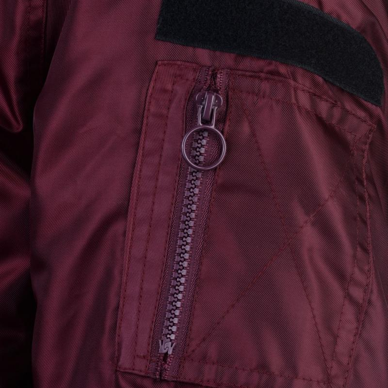 Fabric Borg Bomber Mens Burgundy