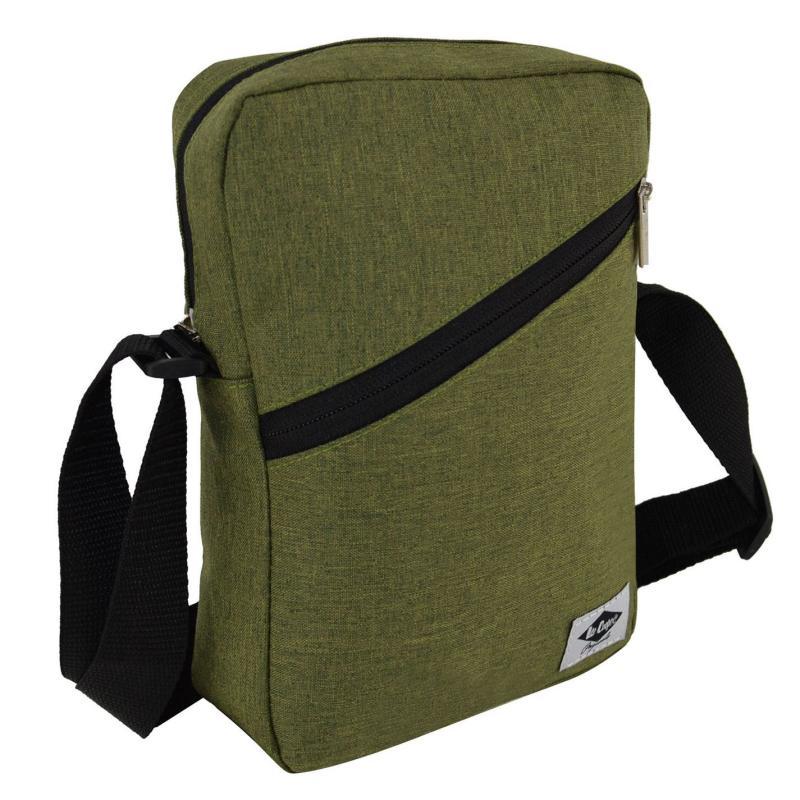 Lee Cooper Marl Gadget Bag Olive