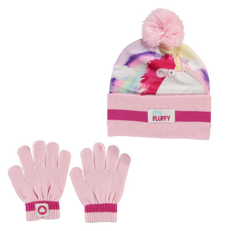 Character 2 Piece Hat Set Childrens Minion Fluffy