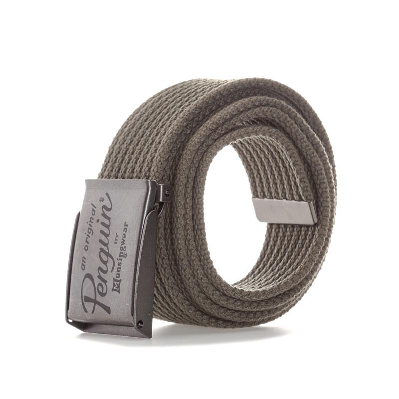 Original Penguin Mens Webbing Belt Green