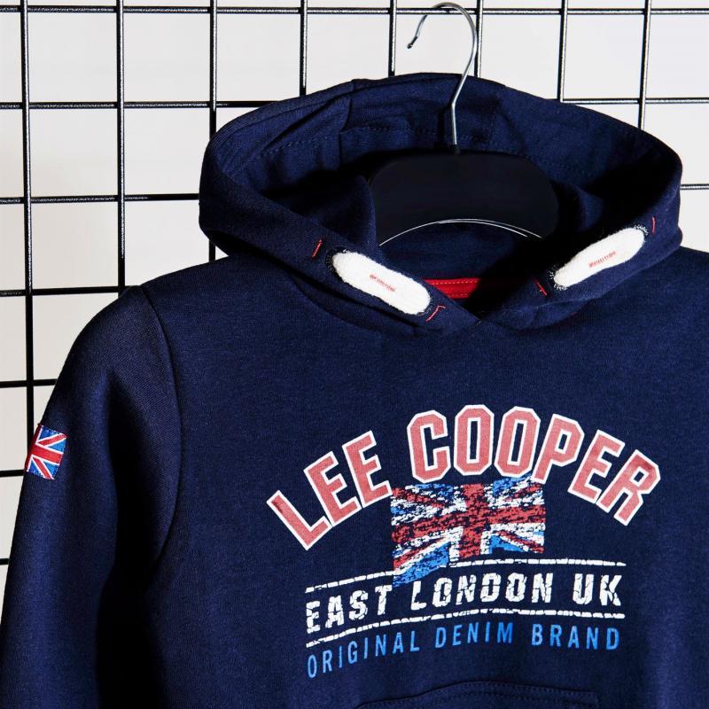 Mikina Lee Cooper OTH London Sweatshirt Junior Boys Navy