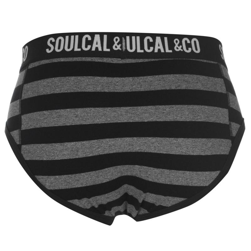 Spodní prádlo SoulCal Briefs Pack of 2 Anthra/Stripe