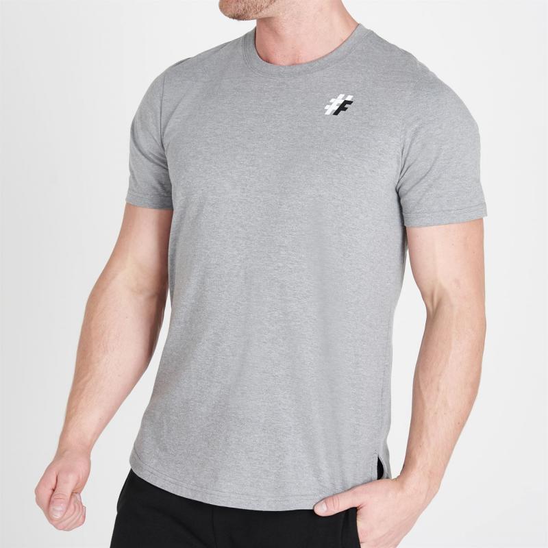 Tričko Five Street Small Logo T Shirt Mens Grey Marl