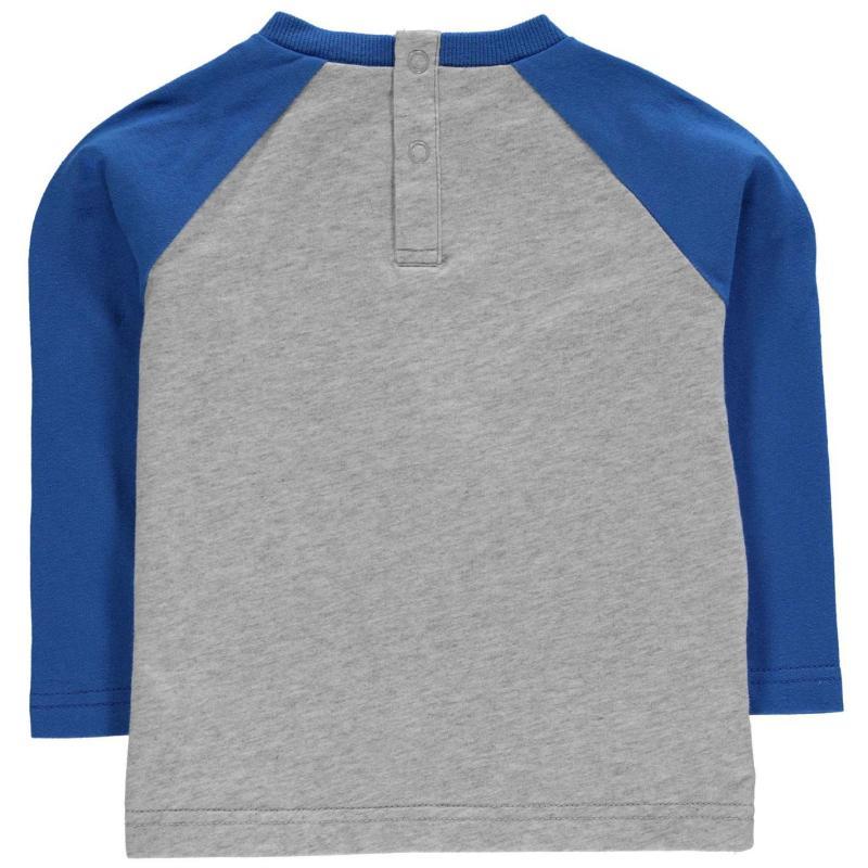 NUFC Crest Long Sleeve T Shirt Baby Boys Grey/Blue