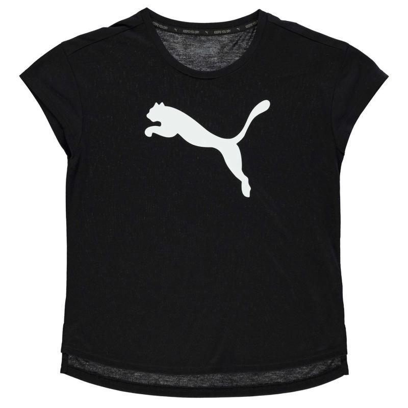 Puma Urban Sport Training T Shirt Junior Girls Black