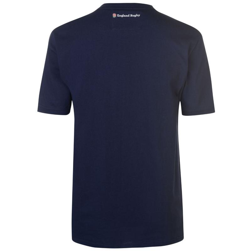 Tričko RFU England Graphic T Shirt Mens Navy