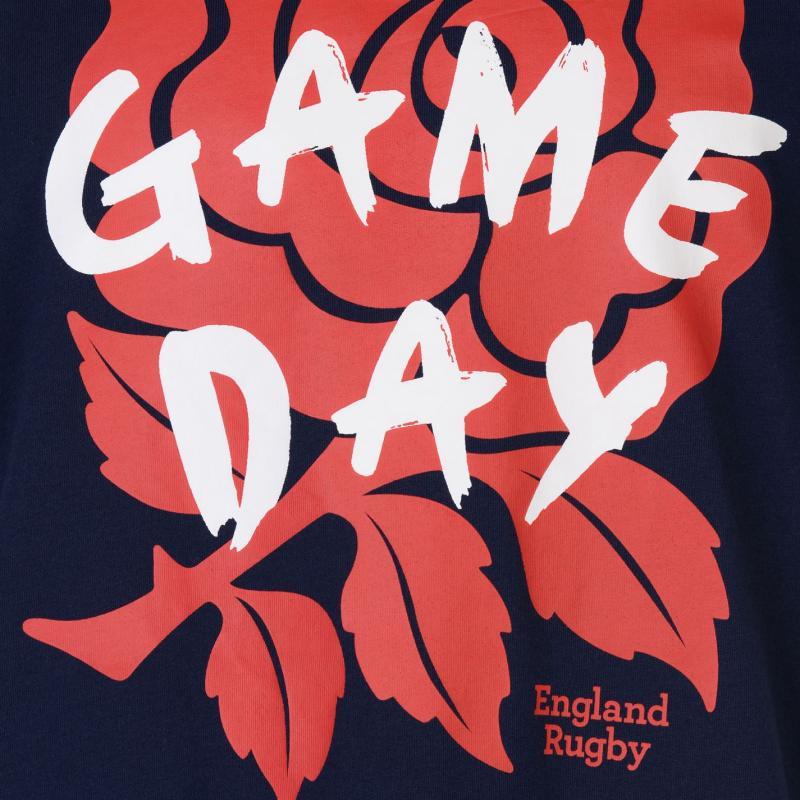 Tričko RFU England Graphic T Shirt Mens White