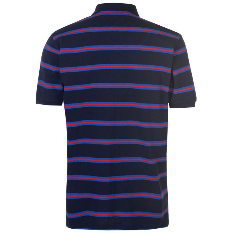 RFU England Rugby Stripe Polo Shirt Mens Navy