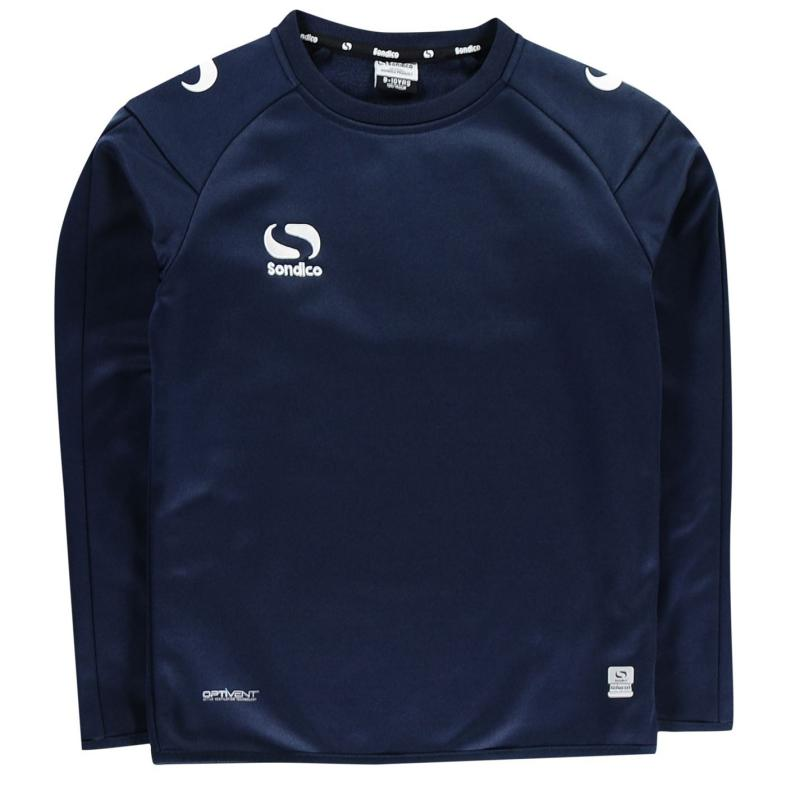 Mikina Sondico Strike Crew Sweater Junior Boys Navy/White