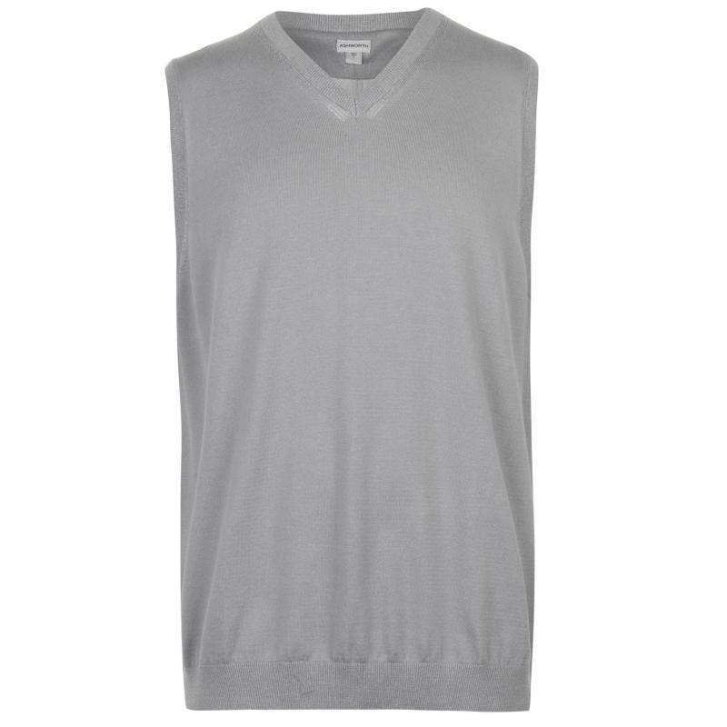 Ashworth Sweater Golf Vest Mens Grey