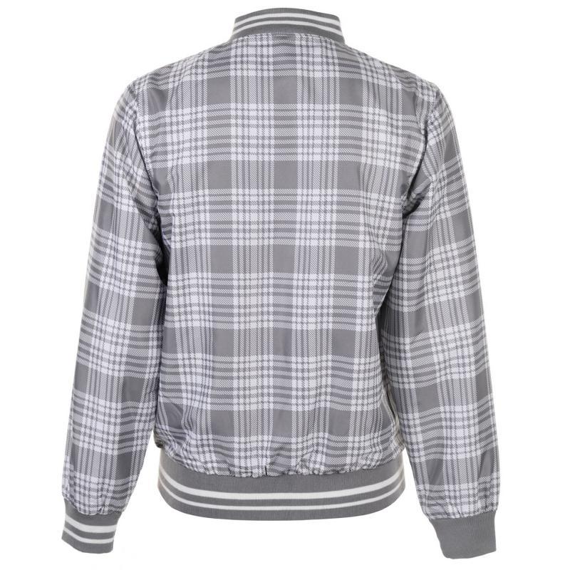 Everlast Check Rain Jacket Mens White/Grey