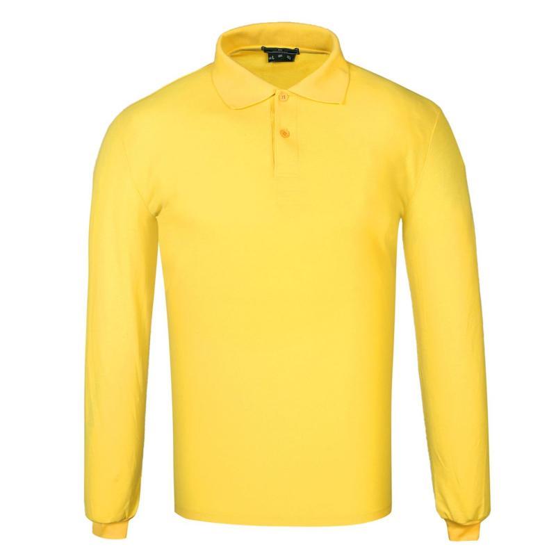 Donnay Long Sleeve Cotton Polo Mens Orange