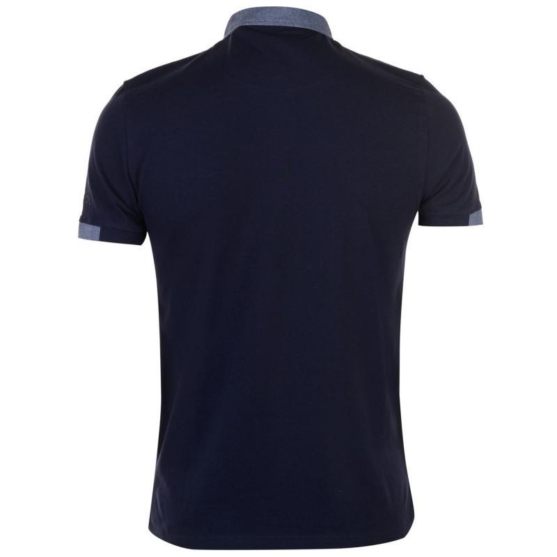 Kangol Cham Short Sleeve Polo Shirt Mens Charcoal Marl