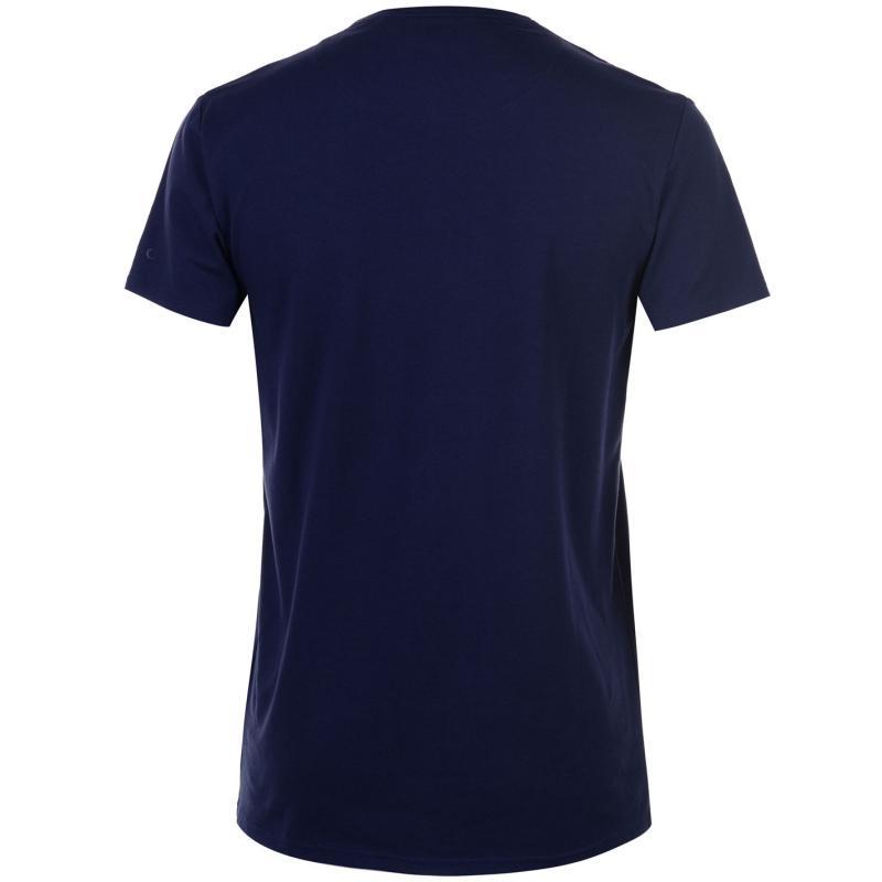 Tričko Kangol Chambray Grandad T Shirt Mens Navy