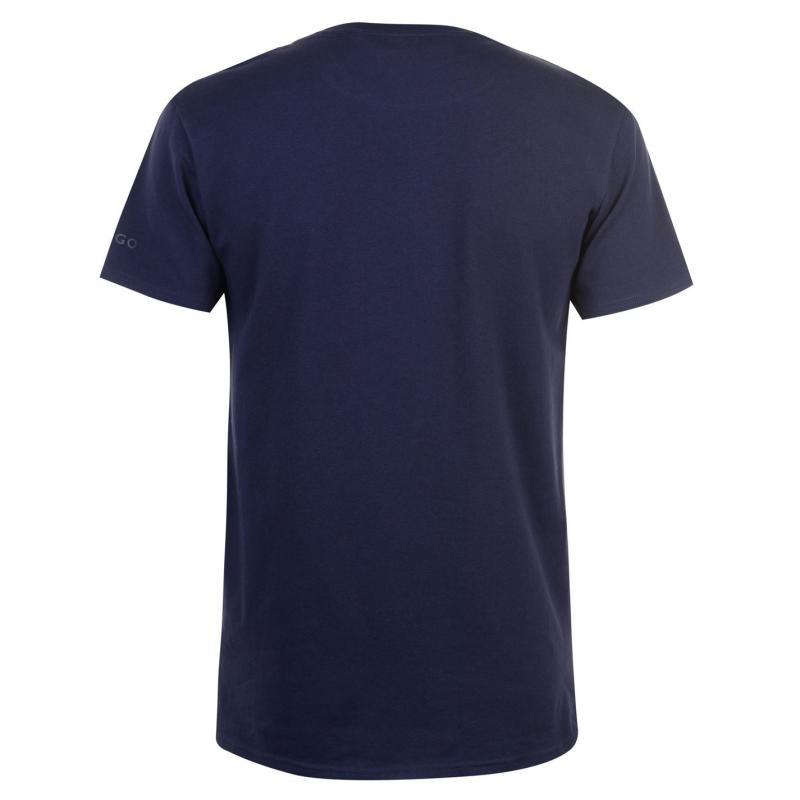 Tričko Kangol Chambray Pocket T Shirt Mens Navy