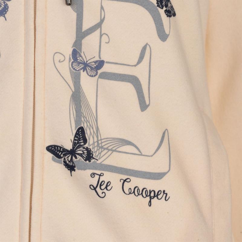Mikina s kapucí Lee Cooper Classic Zipped Hoodie Ladies Ecru
