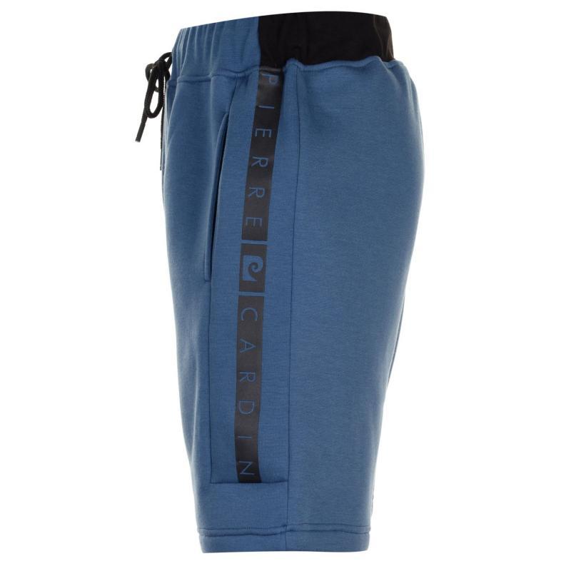 Pierre Cardin Printed Logo Fleece Shorts Mens Blue