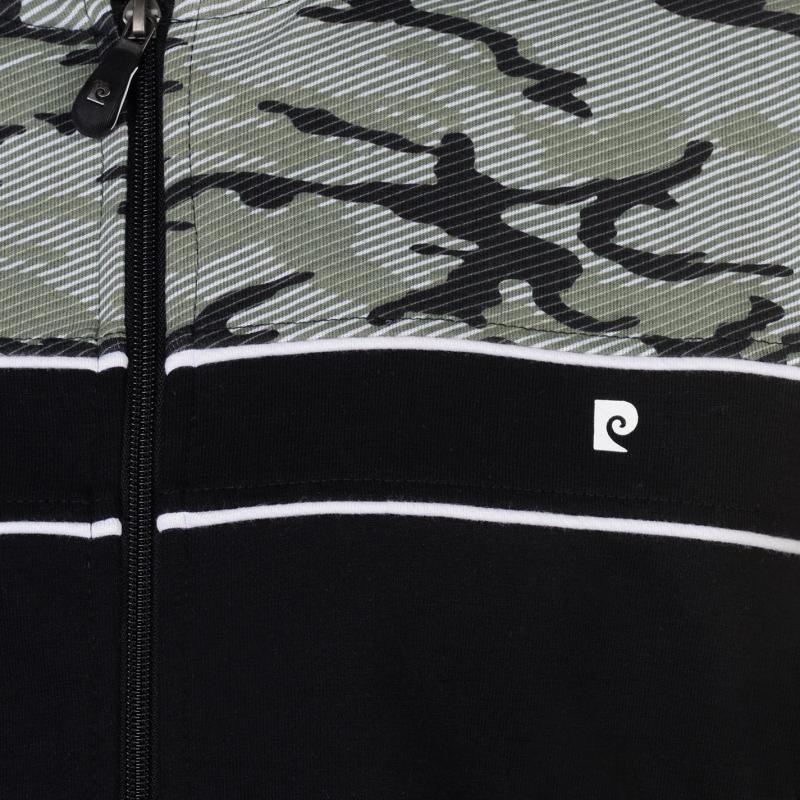Pierre Cardin Printed Panel Bomber Jacket Mens Black