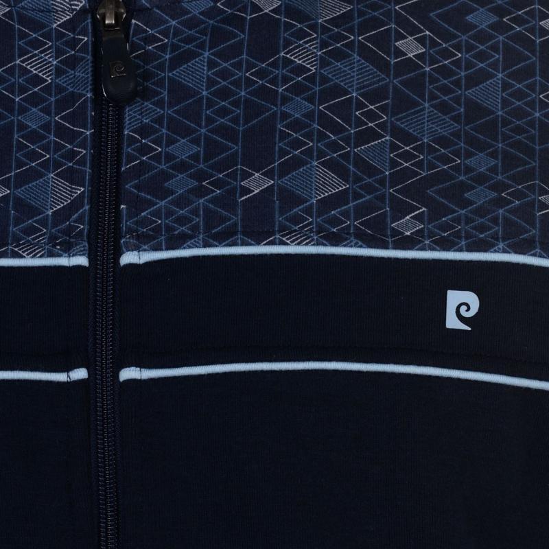 Pierre Cardin Printed Panel Bomber Jacket Mens Navy