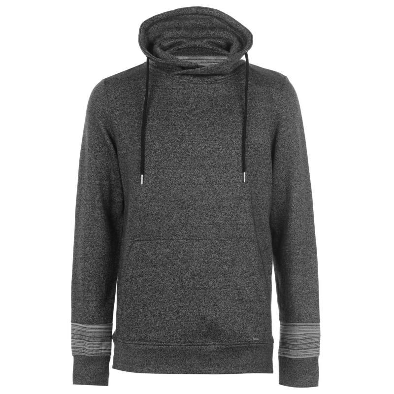 Mikina Pierre Cardin Marl and Stripe Shaw Sweater Mens Black