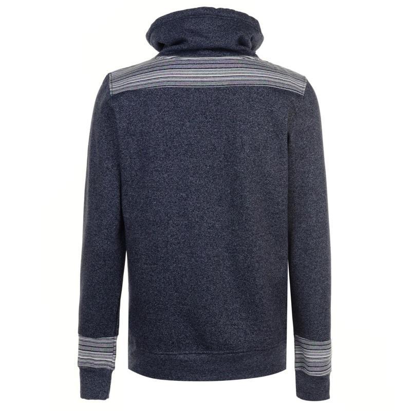 Mikina Pierre Cardin Marl and Stripe Shaw Sweater Mens Denim Marl