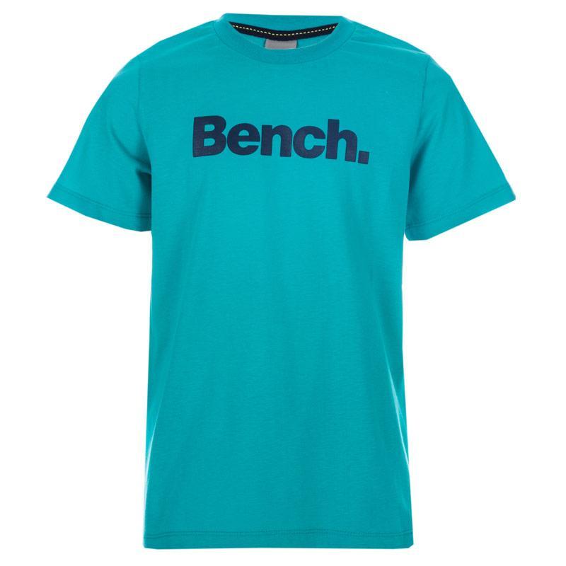 Tričko Bench Junior Boys Logo T-Shirt Turquoise