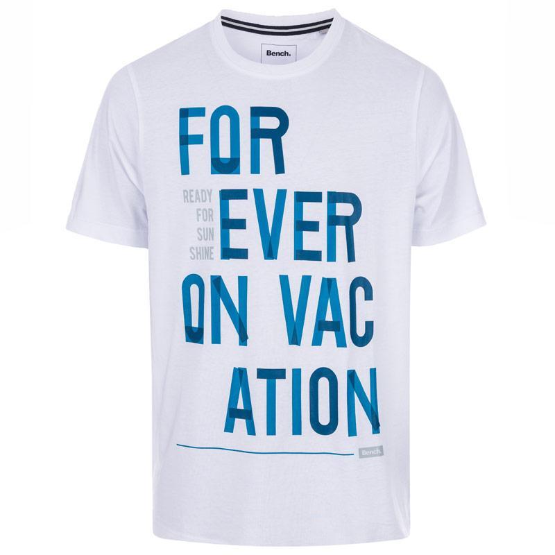 Tričko Bench Mens Forever Vacation T-Shirt Grey