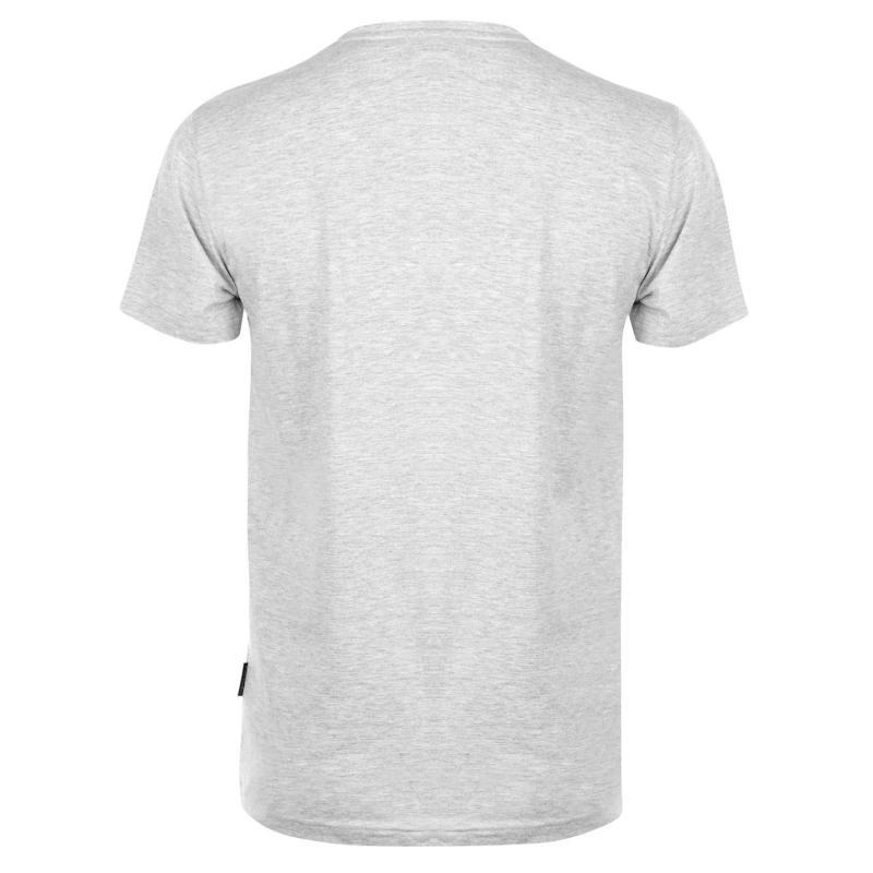 Tričko Pierre Cardin Printed T Shirt Mens Silver Marl