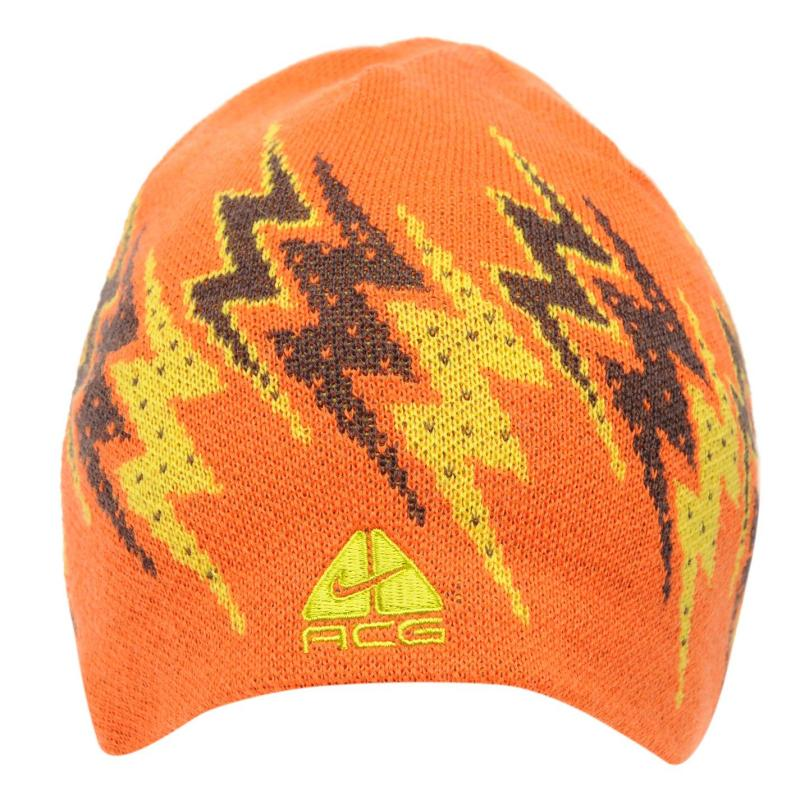 Nike Rider Beanie Mens Orange/Yellow/B