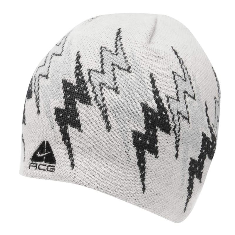 Nike Rider Beanie Mens White/Grey