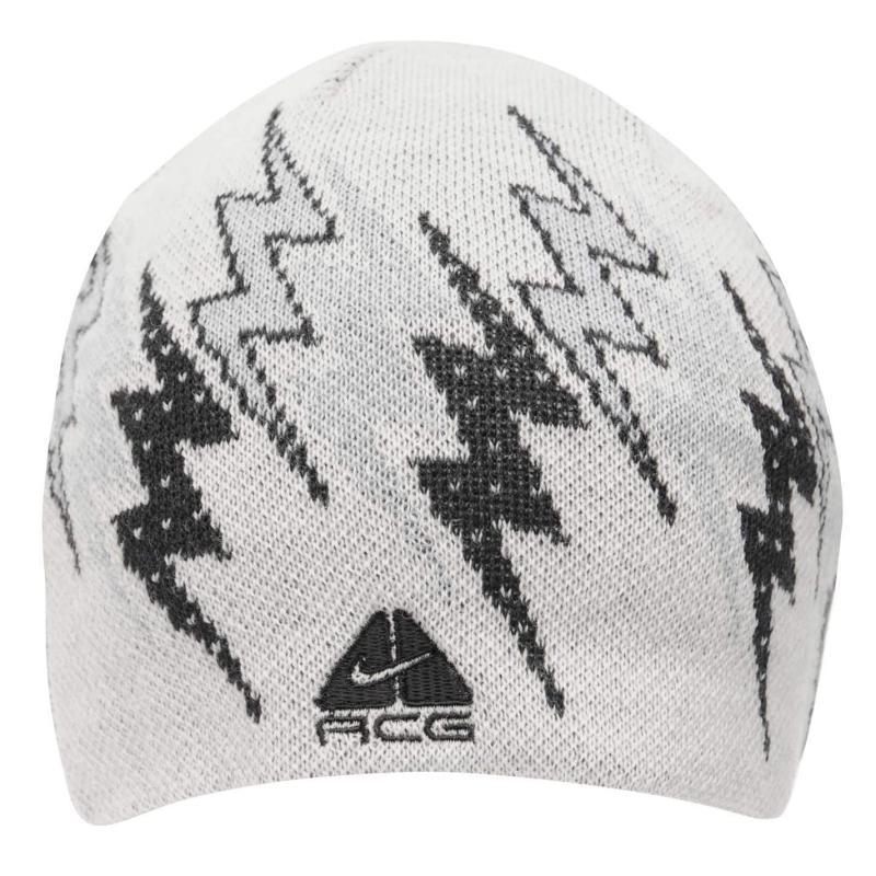 Nike Rider Beanie Mens White/Grey