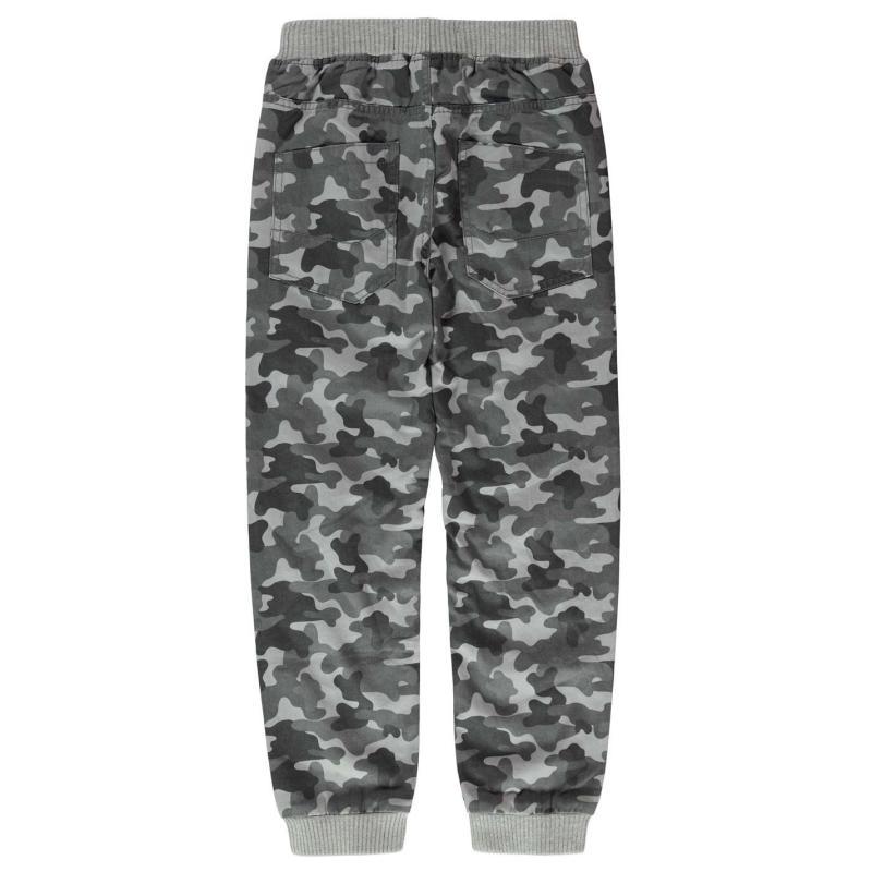 Kalhoty No Fear Camo Jog Jeans Junior Grey Camo