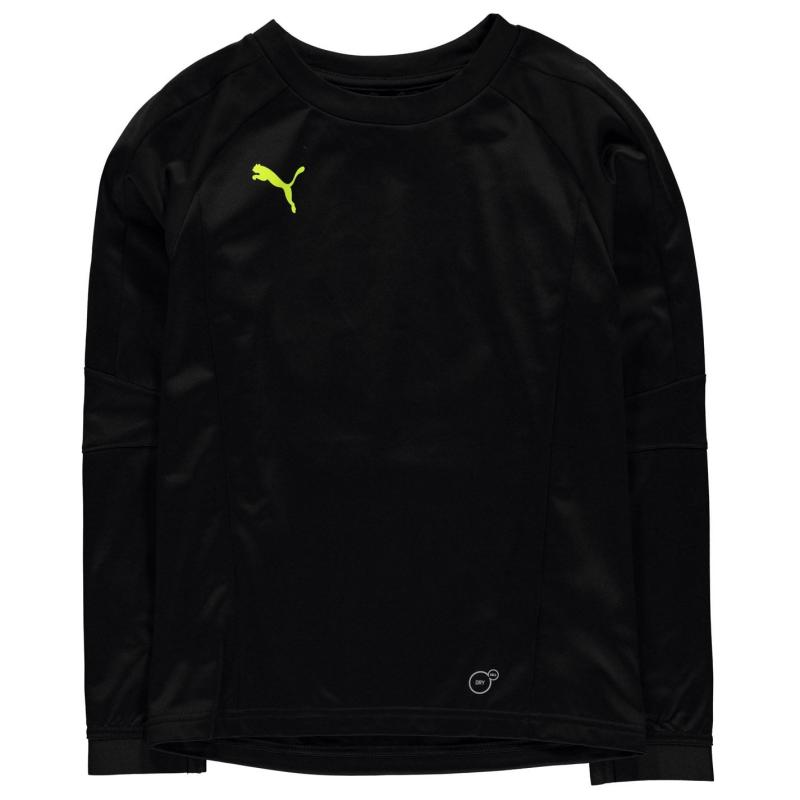 Mikina Puma Training Crew Neck Jumper Junior Boys Black/Yellow