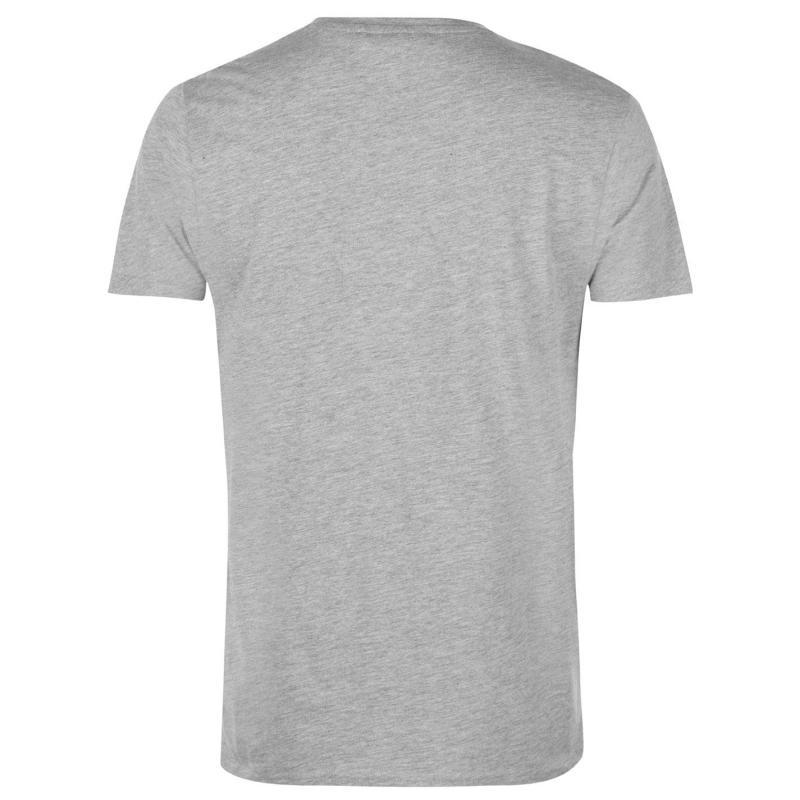 Tričko Lee Cooper Cooper Essentials Pocket T Shirt Mens Grey Marl
