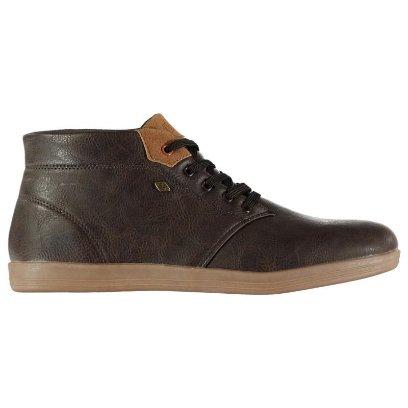 British Knights Copal Mid Top Mens Trainers Dark Brown