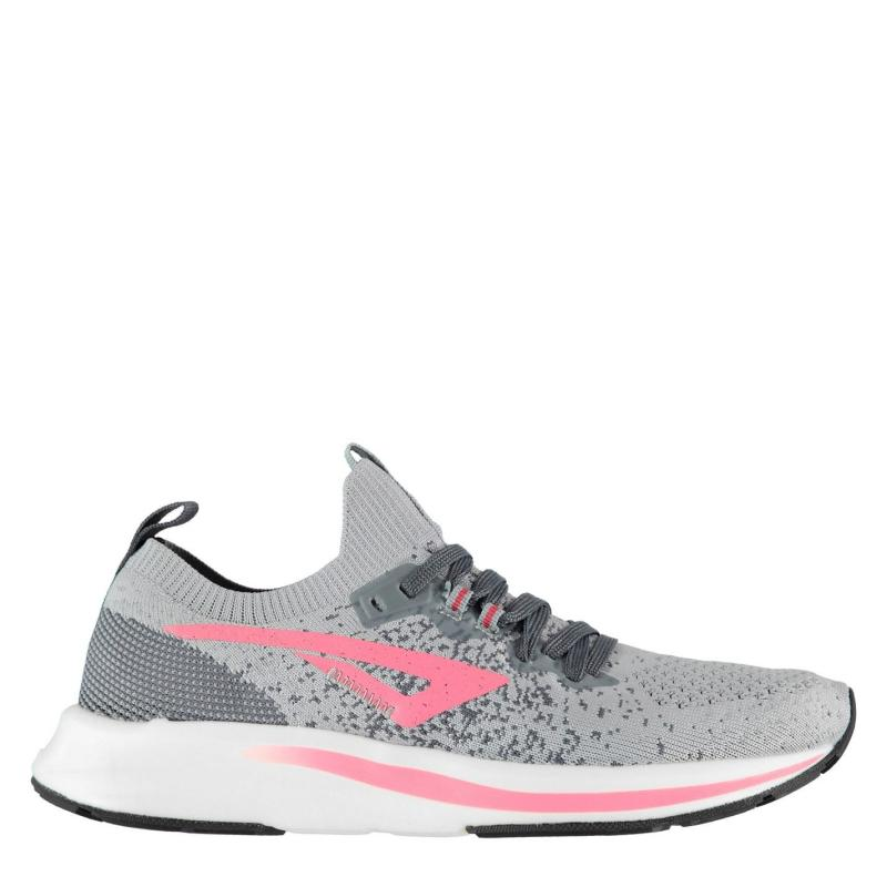 Karrimor Zephyr Ladies Running Shoes Grey/Coral