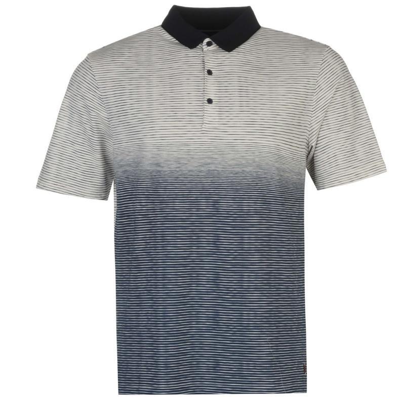 Ashworth Ombre Striped Golf Polo Shirt Mens Pink