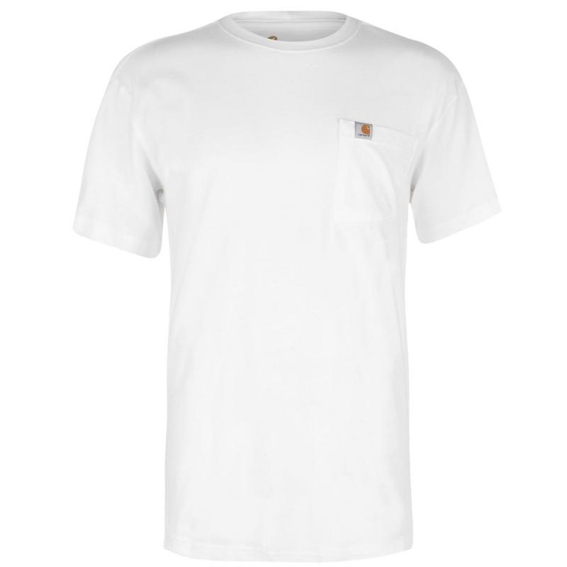 Tričko Carhartt Maddock Pocket T Shirt White