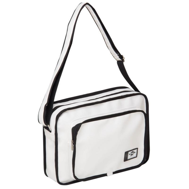 Lee Cooper PU Flight Bag White/Black