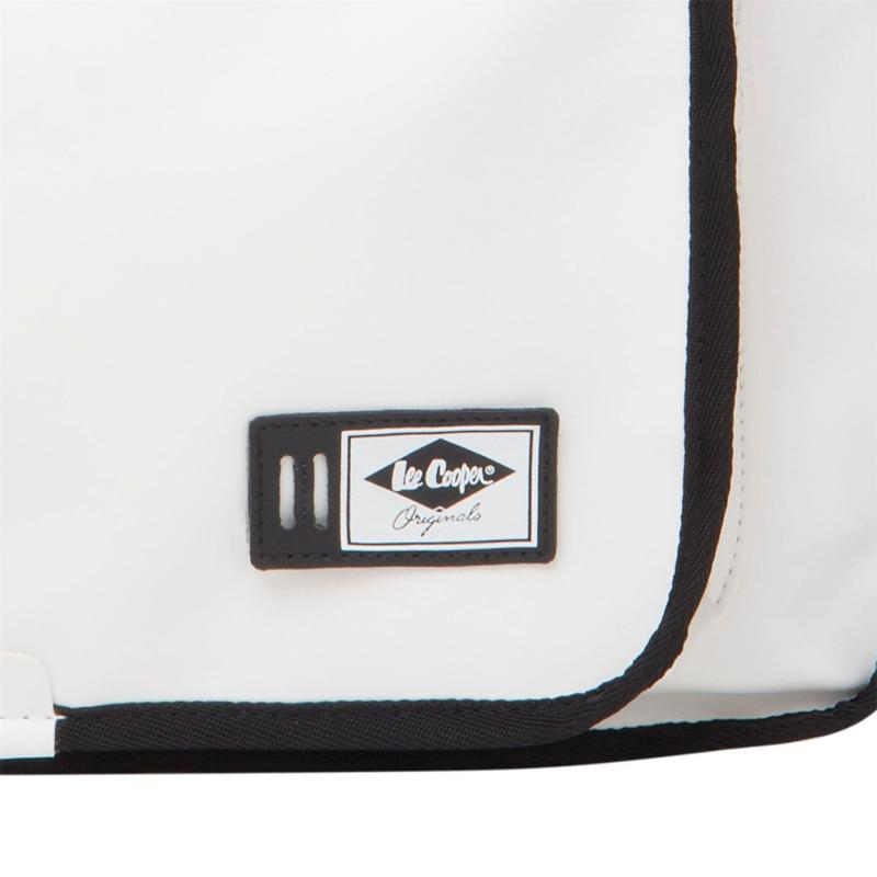 Lee Cooper PU Flight Bag White/Black