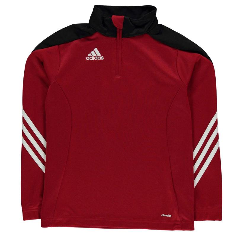 Tričko adidas Sere 14 Zip Top Junior Boys Red/Black