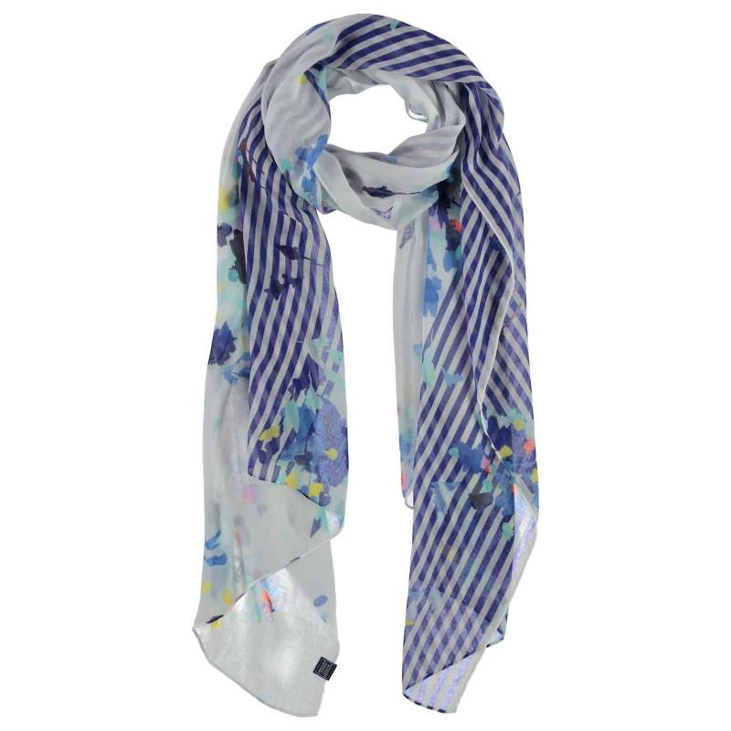 Joules Wensley Scarf Ld72 Navy Bloom