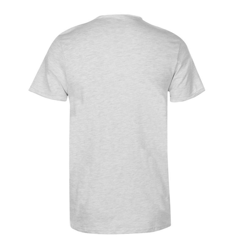 Tričko Lee Cooper Essential Raw T Shirt Mens Ash Marl