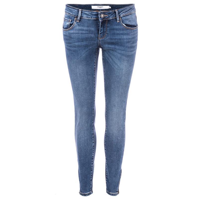 Vero Moda Womens Five Ankle Zip Jeans Denim