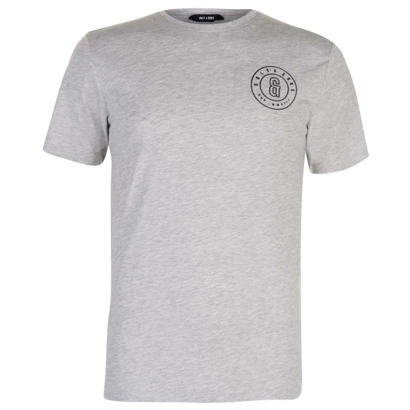 Tričko Only and Sons Bobbi T Shirt Light Grey