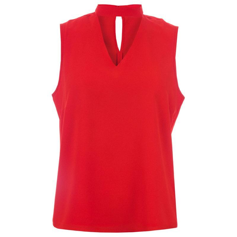 Only Womens Myrina Choker Top Red
