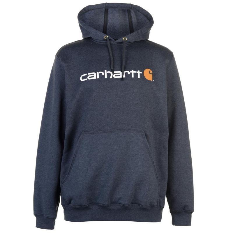 Mikina Carhartt Logo Hoodie Black