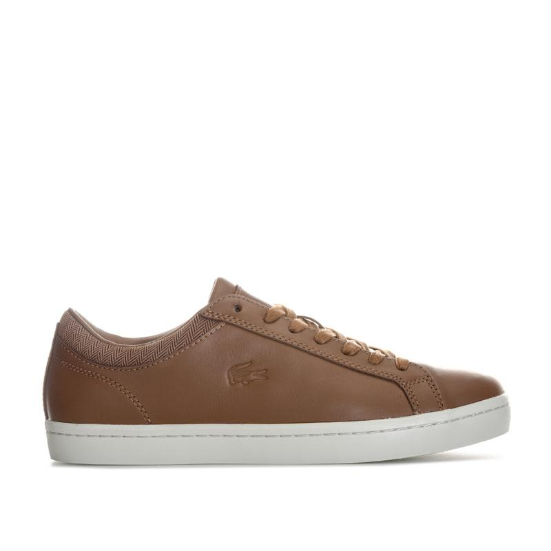 Lacoste Mens Straightset Sp 417 1 CAM Trainers Brown