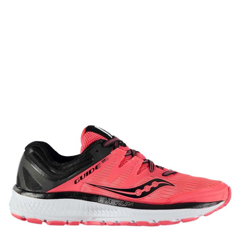 Saucony Guide ISO 10 Ladies Running Shoes Red/Black